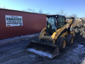 2015 Caterpillar 262d Skid Steer Loader W Cab Only 1700 Hours