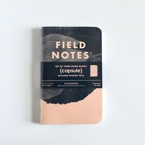 Field Notes Capsule Edition Autumn winter 2016 Notebooks