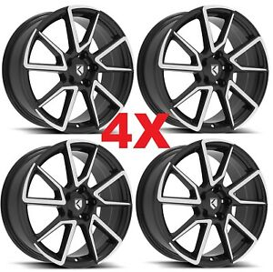 18 Black Machined Wheels Rims