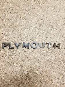 1950 Plymouth Hood Letters Trim Mopar Used Special Deluxe P L Y M O U T H