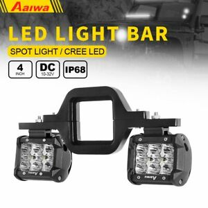 Tow Hitch Mounting Bracket For Dual Led Backup Reverse 4 Led Off Road Lights