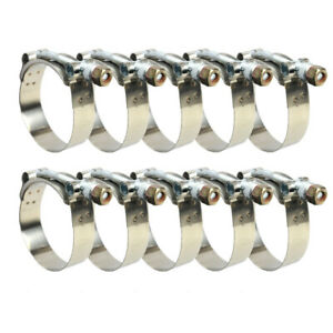 10 X 2 T bolt Clamp Silicone Stainless Steel Hose Turbo Intake Intercooler