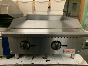 24 Commercial Thermostatic Flat Top Gas Griddle Grill