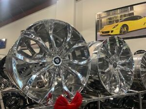 24 Lexani Lust Chrome Wheels Rims 5x127 Jeep Wrangler Gladiator