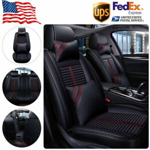Car Suv Seat Cover Leatherette Protector Full Set W pillow Universal Accessories