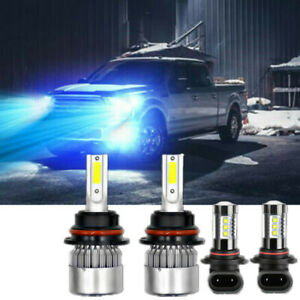 Ice Blue 9007 9145 Combo Led Bulbs Headlight Fog Lights For Ford F 150 1999 2003