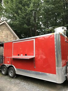 Enclosed Concession Trailer bbq Food Truck catering Kitchen Trailer