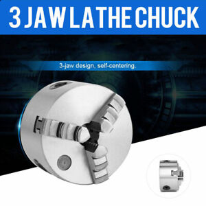 New Self centering Lathe Chuck 3 jaw 4 Inch For Milling K11 100a Hardened Steel