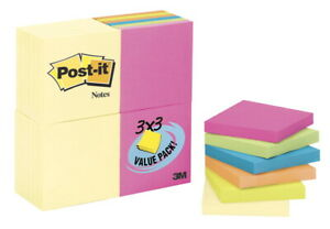 Post it Original Notes 3 X 3 Inches Capetown Colors 24 Pads With 100 Sheets