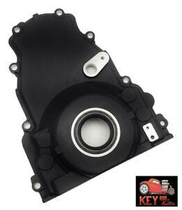 Ls Engine Black Aluminum Timing Chain Cover With Sensor Hole 4 8 5 3 5 7 6 0