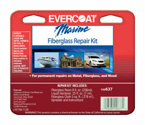 Evercoat Marine Polyester Resin Fiberglass Repair Kit 100637 1 2 Pint Kit