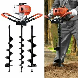 Gas Powered 52cc 2 2hp 1 9kw Earth Auger Power Engine Post Planting 4 6 8 Drill