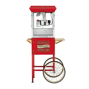 Great Northern 10 Oz Perfect Popper Popcorn Machine With Cart Red
