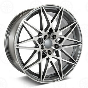 20 Gunmetal Machined Face Wheels M3 Comp Style Fits Bmw 3 4 5 And 6 Series