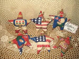 Patriotic Country Decor 6 Stars Ornaments Bowl Fillers Wreath Accents Farmhouse
