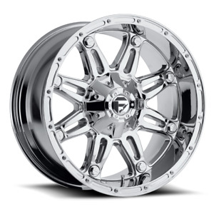 4 20x9 Fuel D530 Chrome Hostage Wheels 6x135 6x139 7 For Ford Toyota Jeep