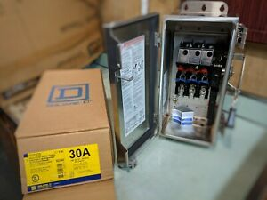 Square D H321ds Heavy Duty 30a 240v Fusible Safety Switch stainless Steel