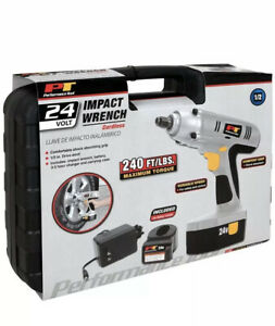 New Performance Tool W50042 Impact Wrench Cordless 24v 1 2 Drive Power Tool