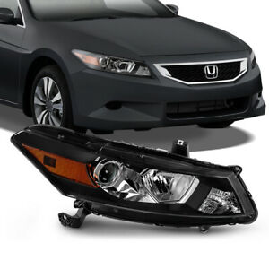 For 08 12 Honda Accord 2 dr Coupe right Rh Side Black Projector Headlight Lamp