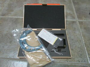 Mitutoyo 122 103 Blade Micrometer 50 75mm 0 01mm New Old Stock Made In Japan