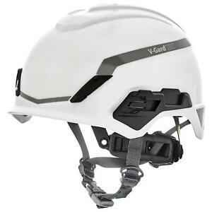Msa V gard H1 Safety Helmet Hard Hat With Fas trac Suspension White