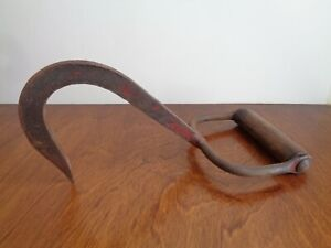 Vintage Antique Iron Hay Ice Meat Hook Old Farm Tool D Cor Made In Canada