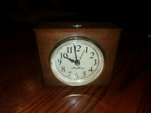 Antique Seth Thomas Clock Lighted Face Working Usa 189h