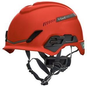 Msa V gard H1 Vented Safety Helmet Hard Hat With Fas trac Suspension Red