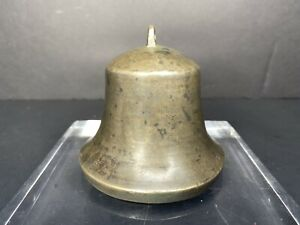 Antique 1800 S Tibet Nepal Bronze Cast Yak Bell Temple Buddhist Buddhism