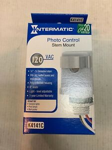 Intermatic K4141c 120 volt 25 amp Stem Mount Photo Control Brand New