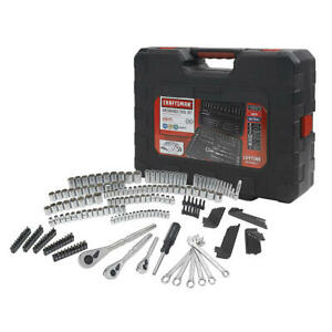 New Craftsman 230 Pc Silver Finish Standard And Metric Mechanic s Tool Set 50230