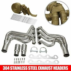 For Ford F150 F250 Bronco 5 8l V8 87 96 Stainless Steel Manifold Exhaust Header
