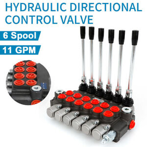 6 Spool Hydraulic Control Valve Double Acting 11 Gpm 3600 Psi Bspp Ports New Us