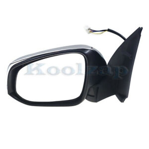Fits 16 19 Tacoma Rear View Mirror Power Heated W Turn Signal Chrome Left Side