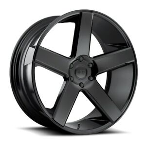 28x10 Et13 Dub S216 Baller 5x115 Black Wheels set Of 4