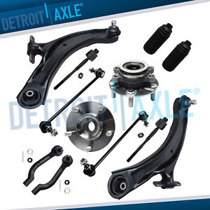 12pc Front Lower Control Arms Wheel Hub Bearing Kit For 2008 2013 Nissan Rogue