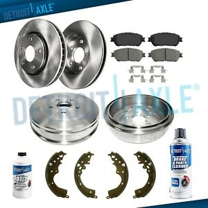 Front Disc Brake Rotors Rear Drums For 2004 2005 2006 2010 Toyota Sienna 5 Lug