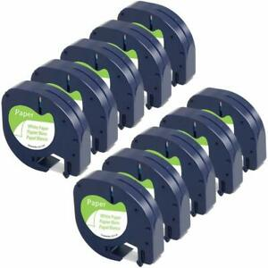 Dymo Letratag Tape Refills 91330 12mm Compatible For Dymo Lt 100h White Paper