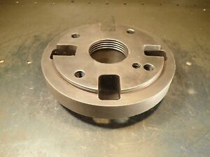 8 Od Lathe Face Plate Or Backing Hub 2 1 2 6 Tpi Threaded Hub Used Good