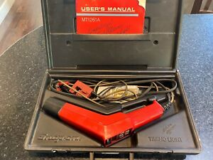 Vintage Snap On Mt1261a Computerized Tack Advance Timing Light Auto Tool Kit Use