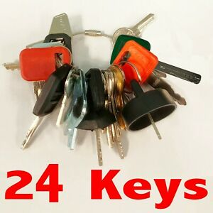Heavy Equipment Machines Construction Equipment Master Ignition 24 Keys Key Set