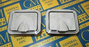 1959 1967 Buick Oldsmobile Chrome Rear Ash Trays 2 Includes Retainers