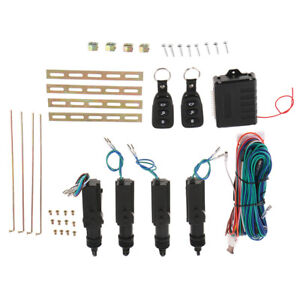 Auto Remote Control Central Door Lock Kit Locking Keyless Entry System With Keys