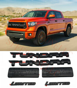 2014 2020 Toyota Tundra Blackout Emblems Limited Overlay Kit Genuine Oem