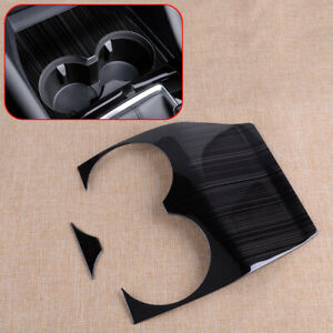 Cup Holder Cover Fit For Mazda 3 2019 2020 Black Interior Trim Molding
