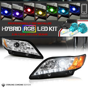 Flashing Multi Color Low Beam For 07 09 Toyota Camry Angel Eye Halo Headlights