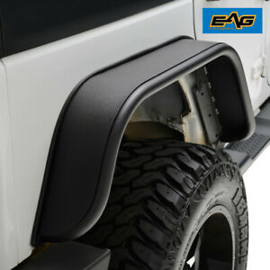 Eag Fits 07 18 Jeep Wrangler Jk Steel Armor Rear 2pcs Fender Flares