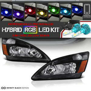 color Changing Led Low Beam Jdm Headlamp For 03 07 Honda Accord Ex dx lx 2 4dr
