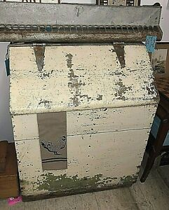 Primitive Farm House Wooden Grain Bin Firewood Box Rustic White