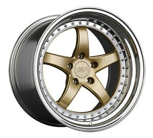 20x9 35 Xxr 565 5x114 3 Hyper Gold platinum Lip Rims set Of 4